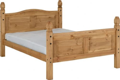 Corin Double Bed with high base end